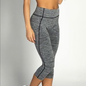 Pants - Heather Gray cropped Workout Leggings sale